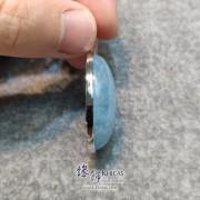 巴西 4A+ 海藍寶銀框吊墜 30x20x13mm