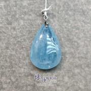 巴西 5A+ 海藍寶水滴形吊墜 22x35x11.5mm