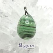 綠螢石水滴形吊咀