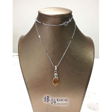 波羅的海琥珀 925 純銀吊墜(連銀鍊)