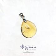 巴西黃晶水滴型吊墜 20.4x14.8x8mm