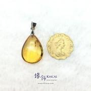 巴西黃晶水滴型吊墜 16.9x14.7x8.7mm