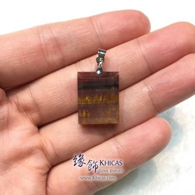 加拿大 5A+ Auralite 23 極光23水晶吊墜 19.3x15.3x6.7mm