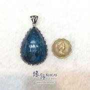 巴西 5A+ 鳳凰石 925 純銀框吊咀