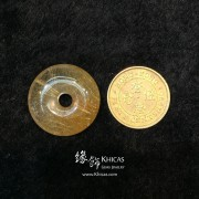 巴西 4A+ 金髮晶平安扣吊墜 25.3x9.2mm
