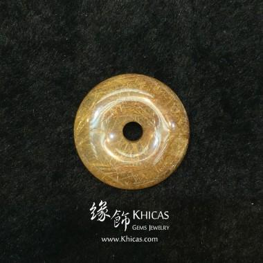 巴西 4A+ 金髮晶平安扣吊墜 27.7x7.2mm