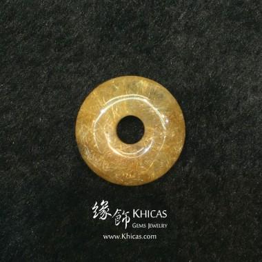 巴西 4A+ 金髮晶平安扣吊墜 24.8x8.9mm
