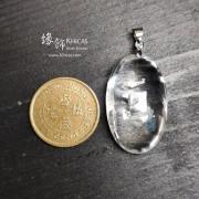 巴西 5A+ 白水晶 晶中晶吊墜 18x30x12mm