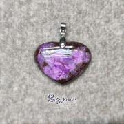南非紫花舒俱徠心形吊墜 ~28.1x20.6x5.2mm