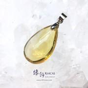 巴西黃晶水滴型吊墜 23.6x14.4x9.4mm