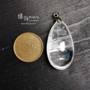 巴西 4A+ 白水晶 晶中晶吊墜 36x19.6x14.4mm