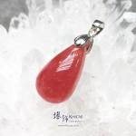阿根廷 5A+ 冰種紅紋石水滴形吊墜 26.2x14.5x8.8mm