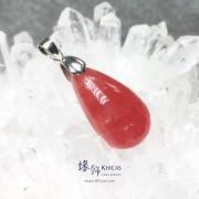 阿根廷 5A+ 冰種紅紋石水滴形吊墜 26.2x14.5x8.8..
