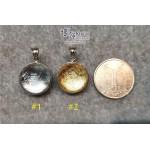 天鐵鎳鐵隕石 雙面包白水晶轉運珠吊墜【多款可選,每款HK$2000.-】