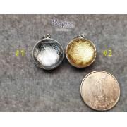 天鐵鎳鐵隕石 雙面包白水晶轉運珠吊墜【多款可選,每款HK$200..