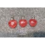 阿根廷 5A+ 紅紋石立體心形吊墜【每個HK$1300.-,網上訂購隨機發貨】