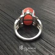 阿根廷 4A+ 冰種紅紋石微鑲戒指
