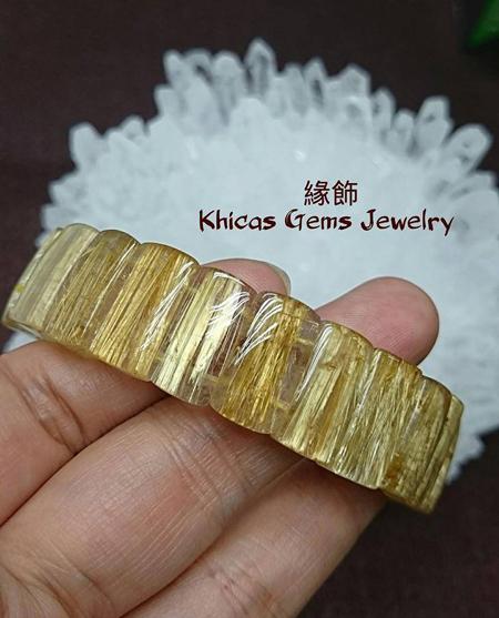 髮晶族之王 - 鈦晶 Khicas Gems 緣飾天然水晶