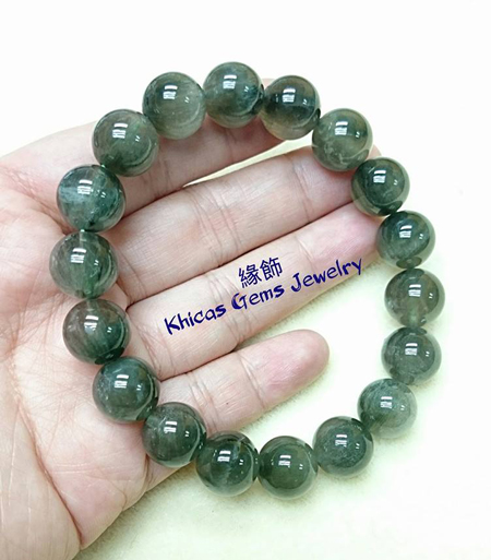 巴西綠髮晶 12mm Khicas Gems 緣飾