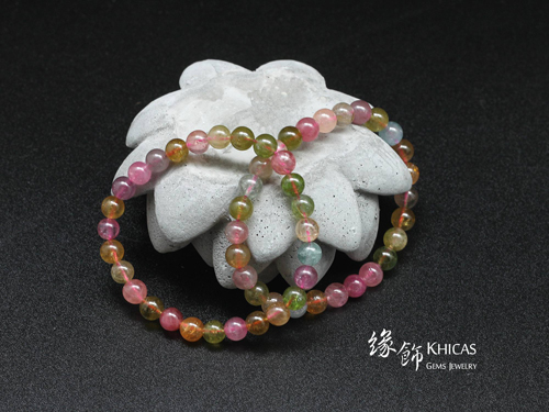 巴西糖果碧璽 7mm KH140816 緣飾天然水晶