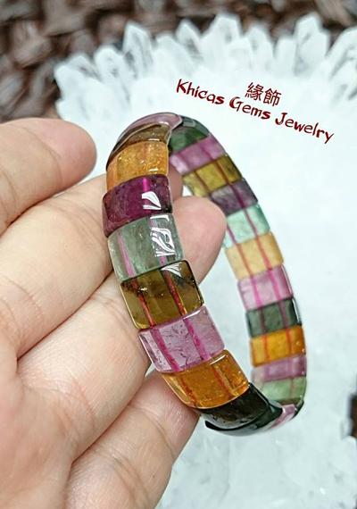 頂級巴西碧璽手排 Khicas Gems 緣飾天然水晶