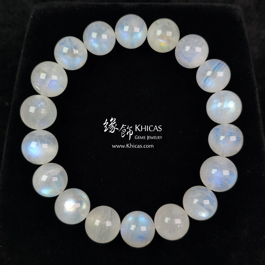 巴西 5A+ 月亮石手串 12mm MoonStone Bracelet KH140628 @ Khicas Gems Jewelry 緣飾天然水晶