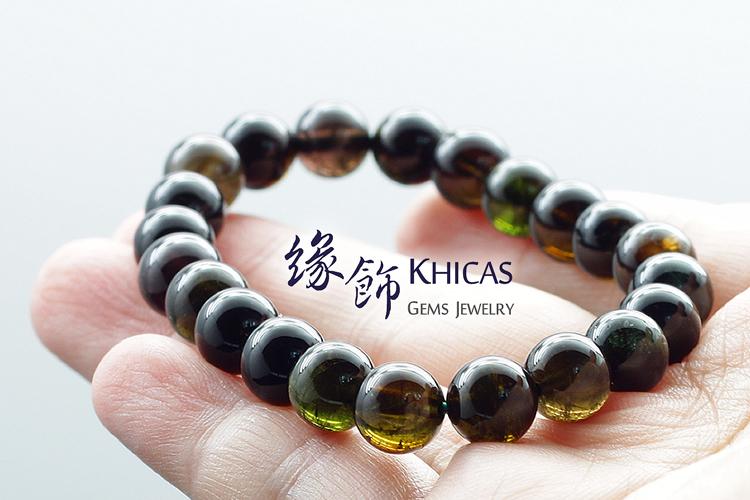 頂級通透綠碧璽手串 8mm KH140757 Khicas Gems 緣飾天然水晶
