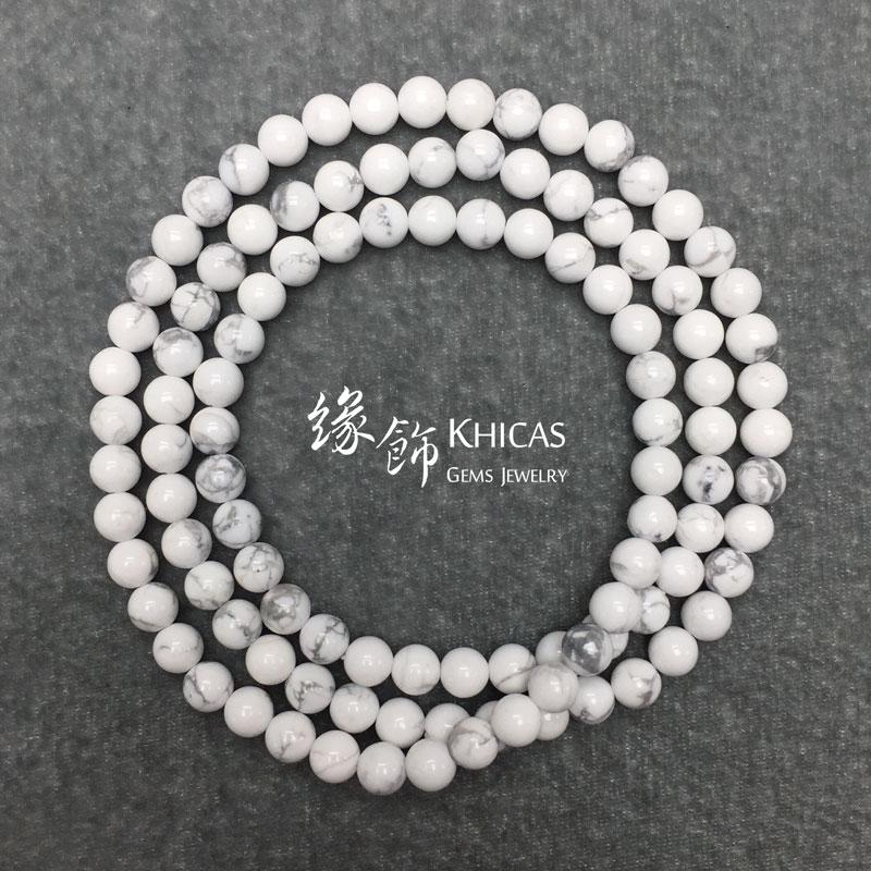 白松石 108 顆佛珠手串 6mm Magnesite KH140849 @ Khicas Gems 緣飾天然水晶