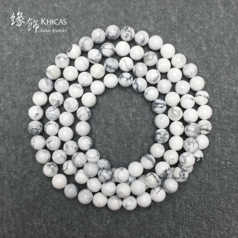 白松石 108 顆佛珠手串 8mm Magnesite KH140850 @ Khicas Gems 緣飾天然水晶
