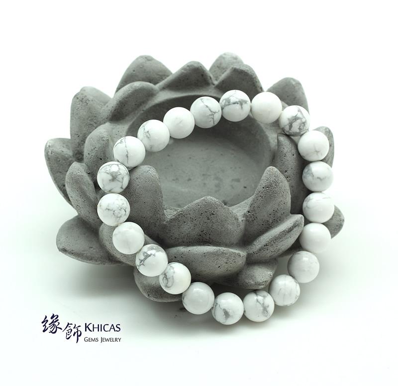 白松石手串 8mm Magnesite KH140852 @ Khicas Gems 緣飾天然水晶