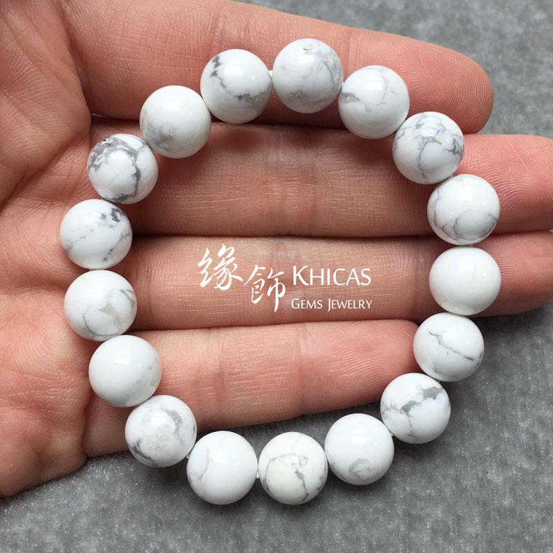 白松石手串 10mm Magnesite KH140853 @ Khicas Gems 緣飾天然水晶