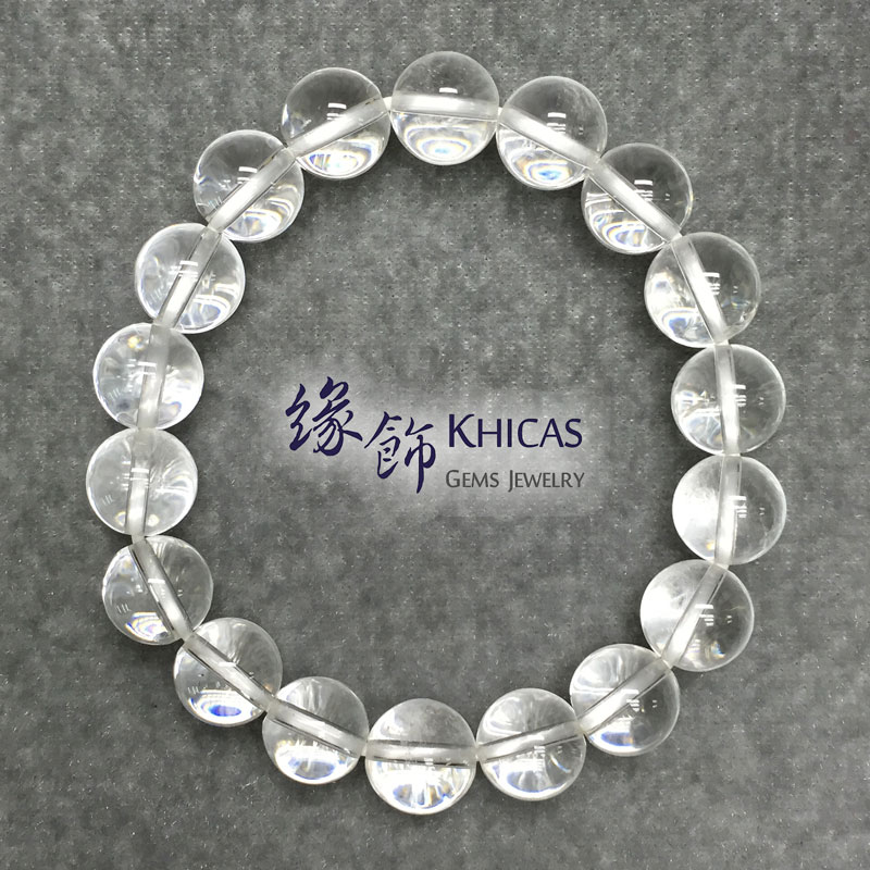巴西白水晶手串 10mm White Quartz KH140867 @ Khicas Gems 緣飾