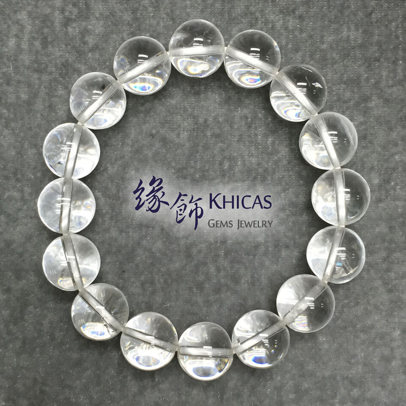 巴西白水晶手串 12mm White Quartz KH140868 @ Khicas Gems 緣飾