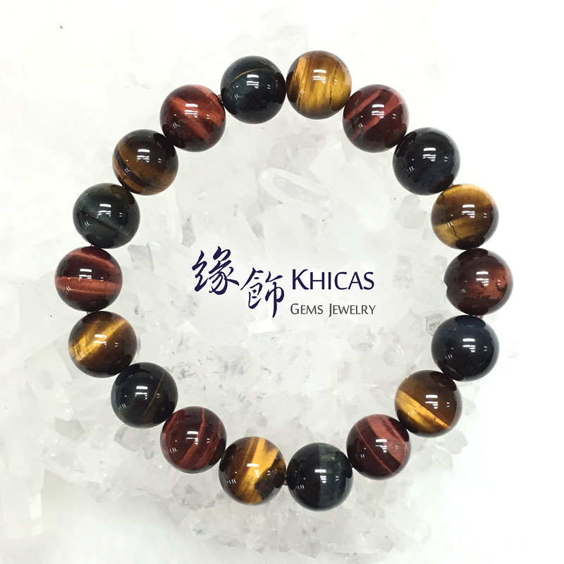 南非 A+ 三色虎眼石手串 10mm KH140894 @ Khicas Gems 緣飾