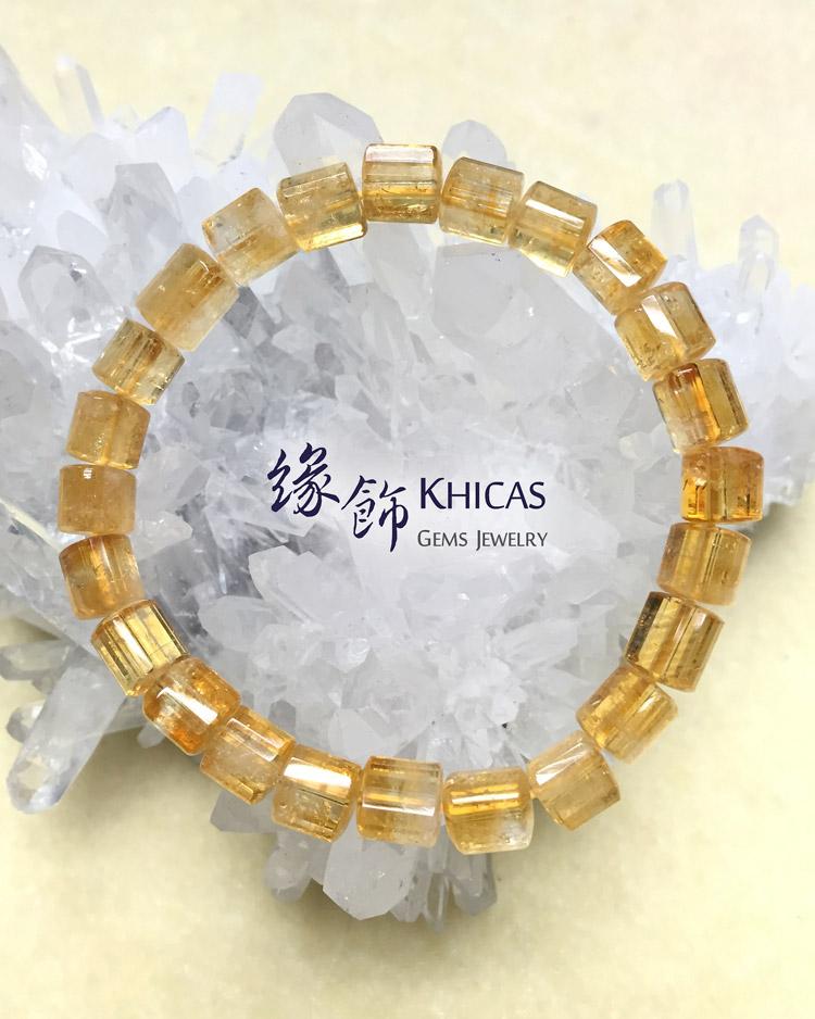 2A+ 巴西黃晶三角桶型珠手串 7x7mm KH140902 Khicas Gems 緣飾
