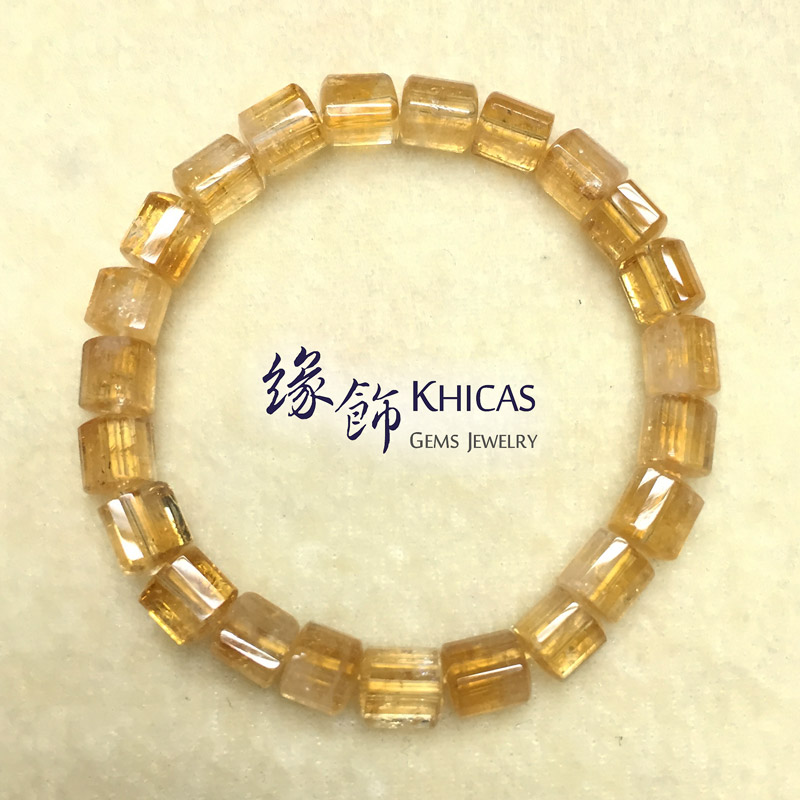 2A+ 巴西黃晶三角桶型珠手串 7x7mm KH140903 Khicas Gems 緣飾