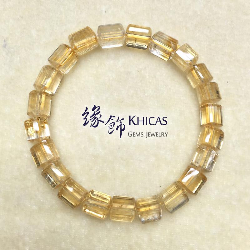 2A+ 巴西黃晶三角桶型珠手串 7x7mm KH140905 Khicas Gems 緣飾