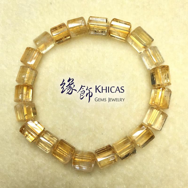 2A+ 巴西黃晶三角桶型珠手串 7x7mm KH140906 Khicas Gems 緣飾