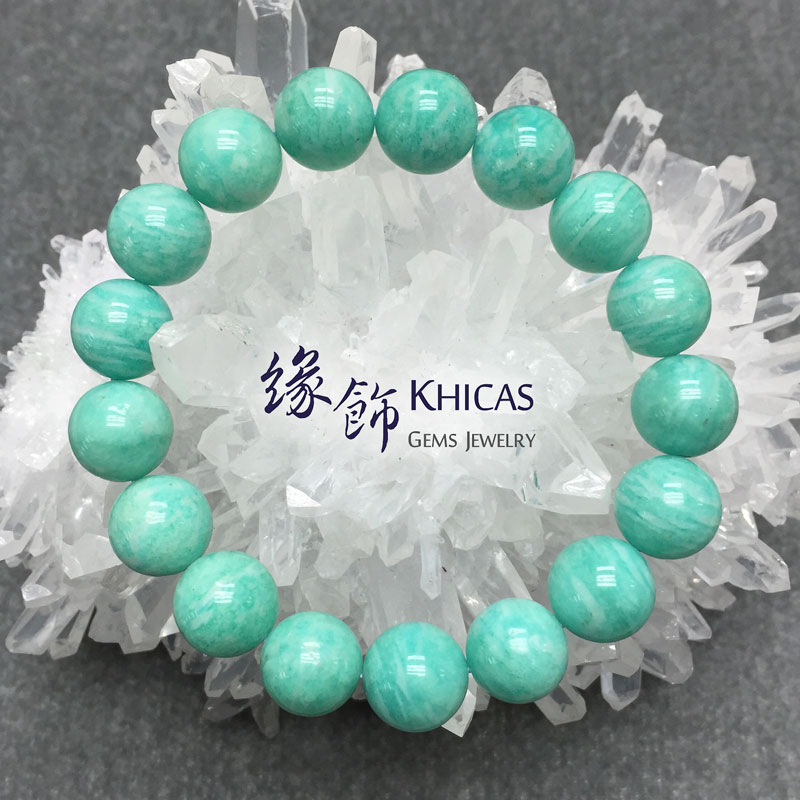 新疆 2A+ 天河石手串 12mm KH140909 Khicas Gems 緣飾