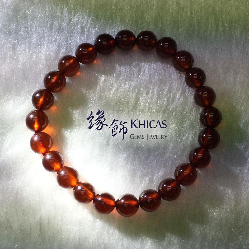 巴西 2A+ 橙石榴石手串 7mm Orange Garnet KH140910 by Khicas Gems 緣飾