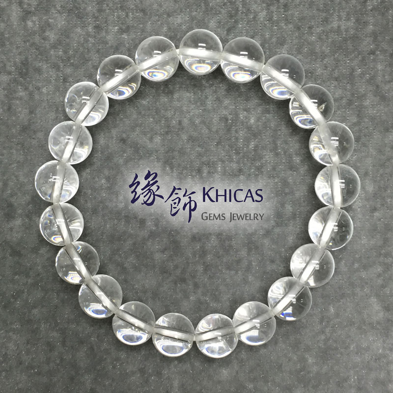 巴西白水晶手串 8mm White Quartz KH140918 @ Khicas Gems 緣飾