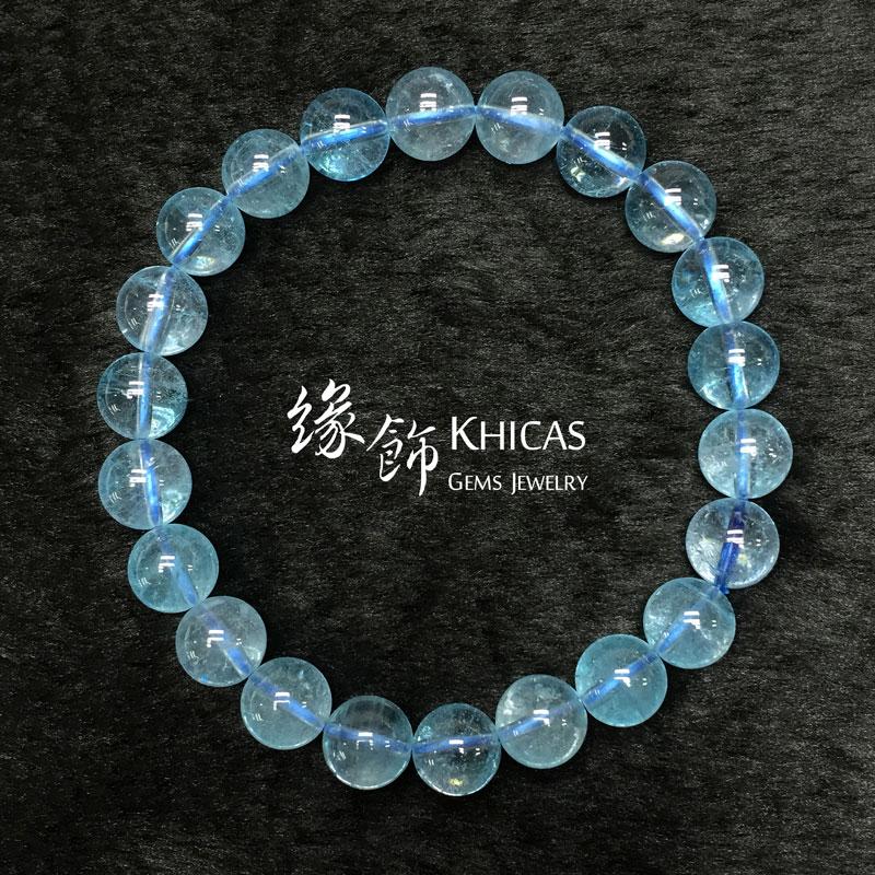 巴西 4A+ 藍色托栢斯 Topaz 手串 9mm KH140930 @ Khicas Gems 緣飾