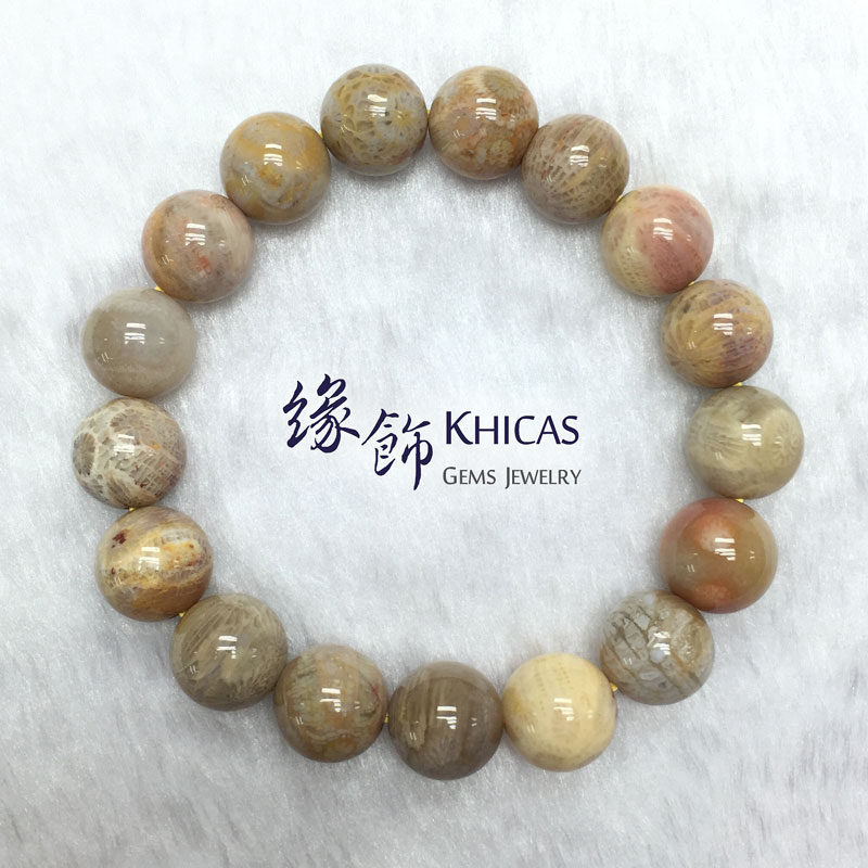 印尼 5A+ 珊瑚玉化石 12mm KH140941 @ Khicas Gems 緣飾