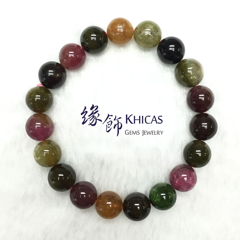 巴西 4A+ 彩碧璽手鍊 10.5mm Tourmaline KH140995 @ Khicas Gems 緣飾