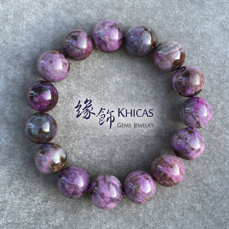 南非2A+紫藍舒俱徠手串 15mm Sugilite KH141047 @ Khicas Gems 緣飾