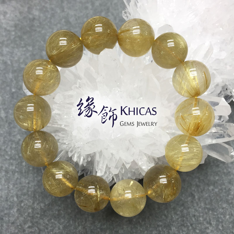 3A+ 巴西金髮晶 16mm KH141049 @ Khicas Gems 緣飾