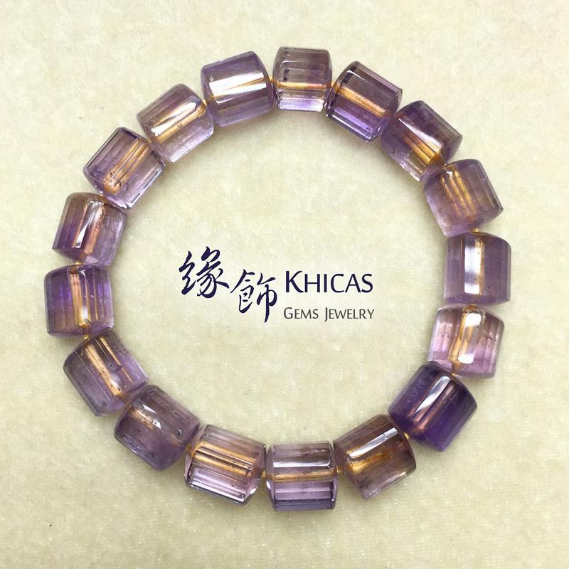紫黃晶三角桶型手串 10x11mm KH141086 Khicas Gems 緣飾