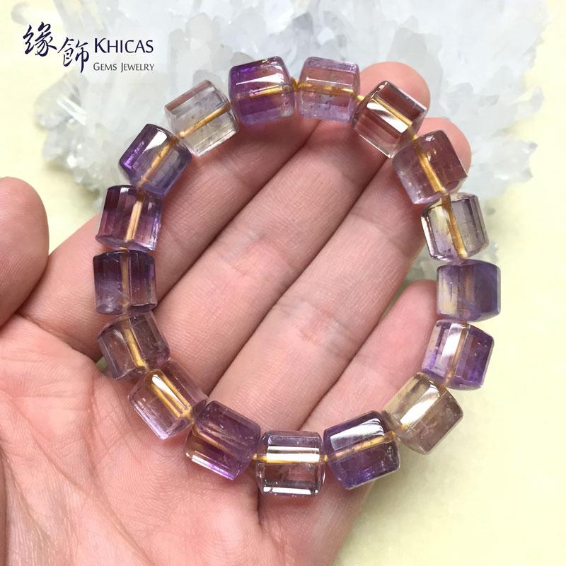 紫黃晶三角桶型手串 10x11mm KH141087 Khicas Gems 緣飾