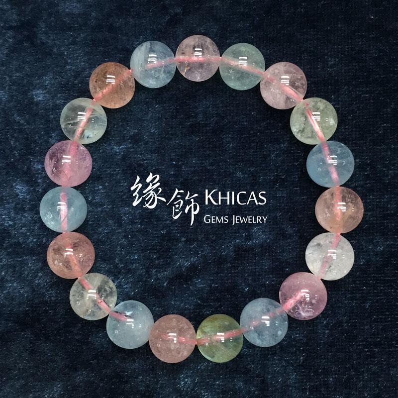 巴西5A+冰彩色海藍寶手串 10mm Morganite KH141107 @ Khicas Gems 緣飾