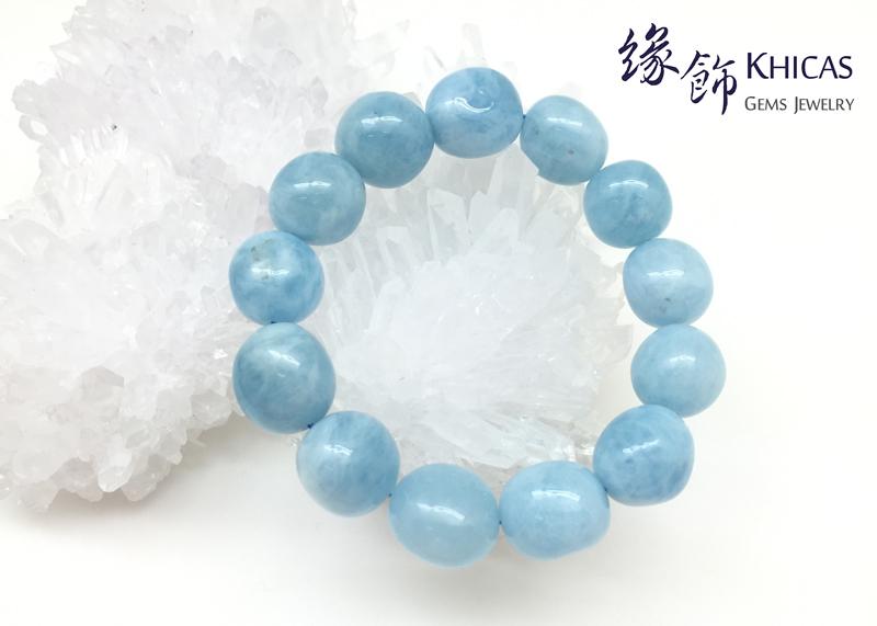 3A+ 巴西海藍寶不定型手串 15mm KH141125 Khicas Gems 緣飾